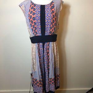 Boden Printed sleeveless dress size 10L